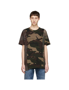 Multicolor Camo Reconstructed T Shirt by Off White