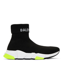 Black Logo Speed Sneakers by Balenciaga