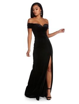 Shania Formal Velvet Sweetheart Dress by Windsor