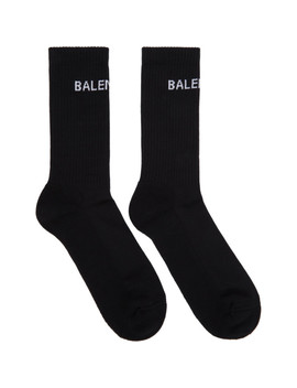 Black Logo Tennis Socks by Balenciaga
