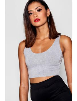 Tall Basic Scoop Neck Crop Top by Boohoo
