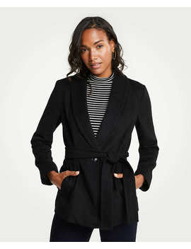 Petite Shawl Collar Belted Coat by Ann Taylor