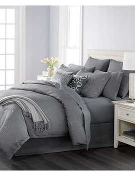 Closeout! Juliette Graphite 14 Pc. Queen Comforter Set, Created For Macy's by Martha Stewart Collection
