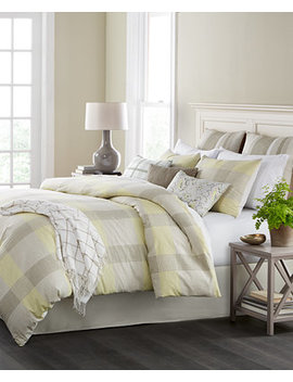 Closeout! Everett Plaid Reversible 10 Pc. Queen Comforter Set, Created For Macy's by Martha Stewart Collection