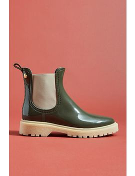 Lemon Jelly Colorblocked Chelsea Rain Boots by Anthropologie