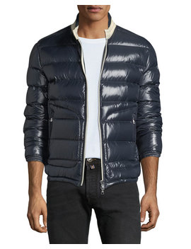 Men's Aubert Quilted Zip Front Jacket by Moncler