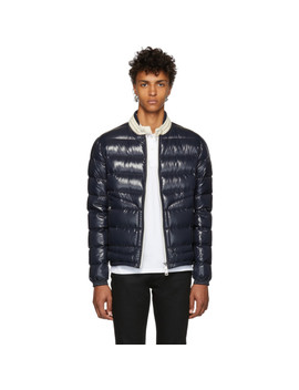 Navy Down Aubert Jacket by Moncler