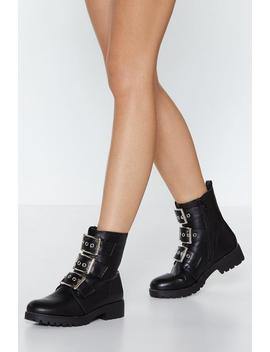 On A Kick Combat Bootie by Nasty Gal