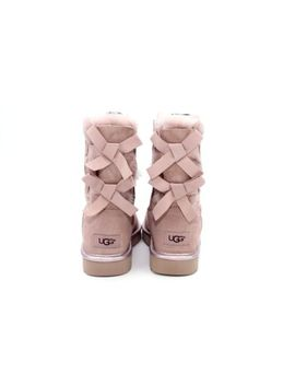 Ugg  Bailey Bow Ii Metallic Dusk Color Suede Sheepskin Boots Size 7 Us by Ebay Seller