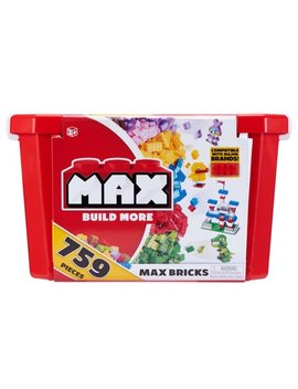 Max Build More Building Bricks Value Set (759 Bricks)   Major Brick Brands Compatible by Zuru