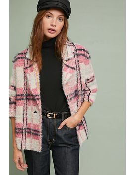 Plaid Eyelash Jacket by Maeve