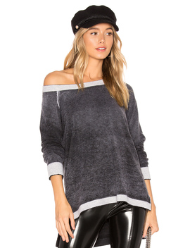 Cashmere Reverse Printed Pullover by 525 America
