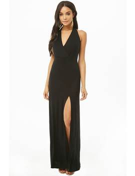 Surplice Halter Maxi Dress by Forever 21