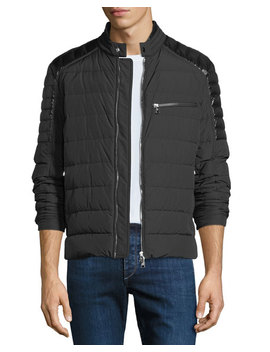 Men's Meylan Quilted Zip Front Jacket by Moncler