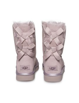 Ugg Bailey Bow Ii Metallic Dusk Suede Sheepskin Short Ankle Boots Size Us 7 New by Ebay Seller