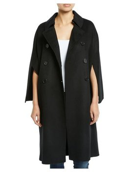 Cape Sleeve Double Breasted Pea Coat by Leon Max