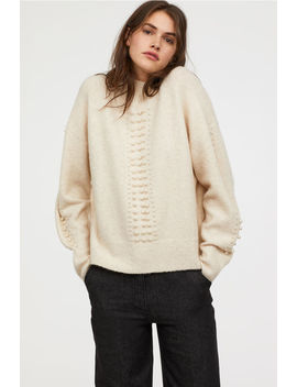 Fine Knit Sweater With Beads by H&M