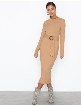 Buckle Belt Dress by Nly Trend