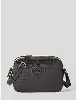 Kamryn Croc Print Crossbody Bag by Guess