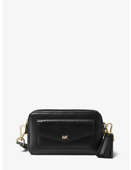 Small Snake Embossed Leather Camera Bag by Michael Michael Kors