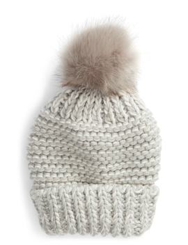 Skyline Faux Fur Pom Beanie by Free People