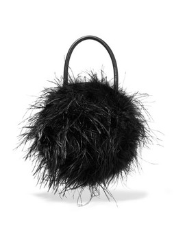 Zadie Feather Embellished Leather Tote by Loeffler Randall
