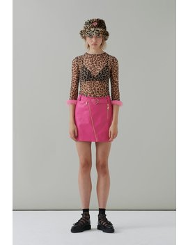 G.E.M Hot Pink Biker Skirt by Lazy Oaf