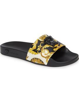 Palazzo Slide Sandal by Versace