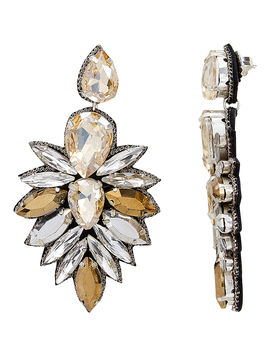 Cuzco Champagne Crystal Drop Earrings by Suzanna Dai