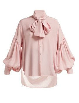 New Romantic Polka Dot Silk Blouse by Hillier Bartley