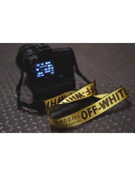 Off White Camera Strap by Etsy