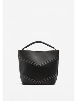 Contrast Seam Bag by Mango