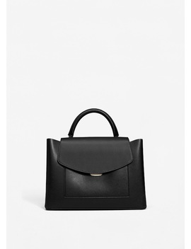 Pebbled Tote Bag by Mango