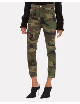 High Rise Camo Crop Jeans by Re/Done