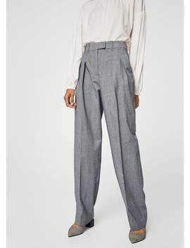Pleat Detail Trousers by Mango