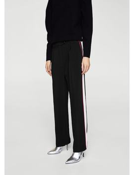 Side Striped Trousers by Mango