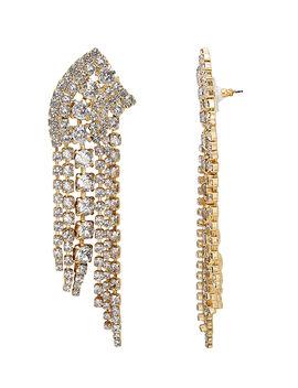 Fringed Crystal Earrings by Elizabeth Cole