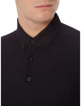 oxford-trim-pique-polo-shirt by fred-perry