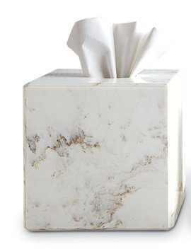 Marble Tissue Box Cover by Waterworks Studio