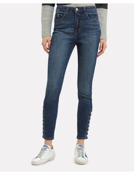 Piper Ankle Hem Button Jeans by L'agence
