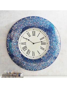 Indigo Mosaic Wall Clock by Pier1 Imports