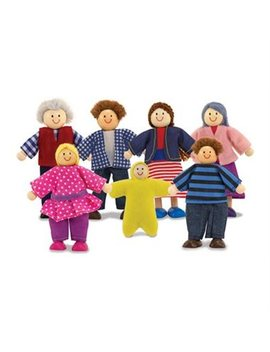 Melissa & Doug 7 Piece Poseable Wooden Doll Family For... by Melissa & Doug