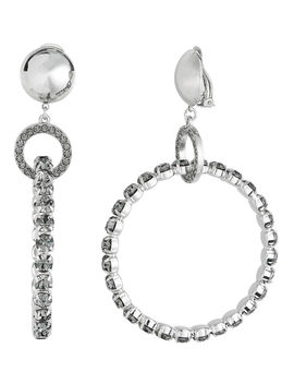 Crystal Hoop Earrings by Alberta Ferretti