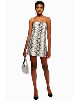 Snake Print Bandeau Dress by Topshop