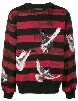 Dove Print Striped Sweatshirt by Amiri