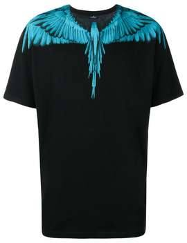 Placement Prined Bird T Shirt by Marcelo Burlon County Of Milan