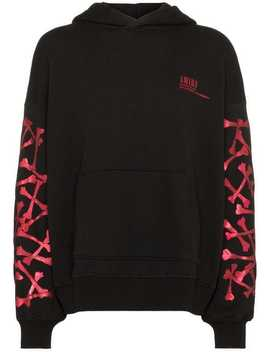Sunset Bones Cotton Hoodie by Amiri