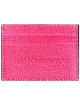 Embossed Textured Leather Card Case by Burberry
