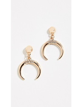 Crystal Tooth Earrings by Stella + Ruby