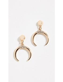 Crystal Tooth Earrings by Stella + Ruby